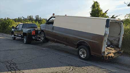 Scrap Mini Van Removal Services with AKR Towing